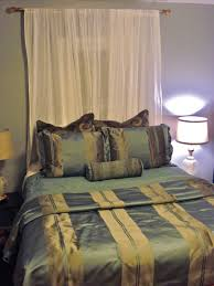 curtain over bed bedroom awesome bedroom decoration ideas with green silk bedding