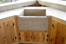 concrete sink u0026 custom cedar cabinets bradley j winkler llc