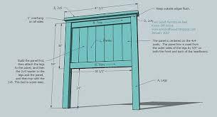 build a panel headboard ana white build a twin farmhouse bed