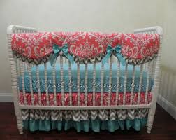 Custom Crib Bedding Sets Items Similar To Custom Crib Bedding Set Clarissa Baby