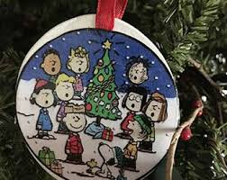 peanuts ornament etsy