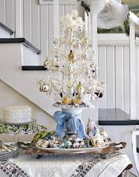 Decorative Tabletop Christmas Trees by Elegant White Table Top Christmas Tree Homesfeed