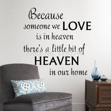 love decorations for the home love heaven in our home wall decals quote wall decorations living