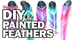 Diy by Diy Painted Feathers Corinne Vs Pin Youtube