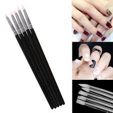 5pcs soft silicone nail art design stamp pen brush carving