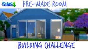 4 Room House by The Sims 4 Pre Made Room House Building Chalenge Youtube