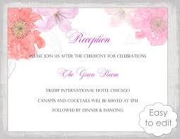 Wedding Rehearsal Dinner Invitations Templates Free Wedding Reception Invitation Template Diy Printable