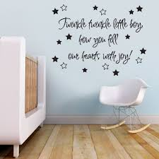 graphics n tees twinkle twinkle little star with stork v c designs ltd tm twinkle twinkle little boy baby nursery children s bedroom quote wall