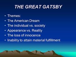 themes and ideas in the great gatsby naturalism modernism and the great gatsby ppt video online download