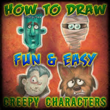 easy draw halloween characters 6 steps pictures