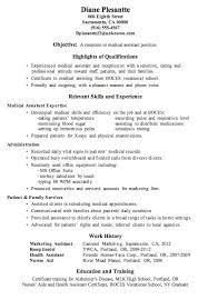 resume templates for medical assistants resume exles exle of medical assistant regular templates