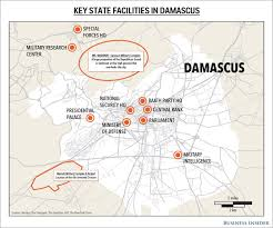 Bank Of America Locations Map by Key Targets In Damascus Syria Business Insider