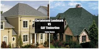 gaf timberline shingles vs certainteed landmark roofer in