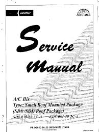 denso service manual sd 8