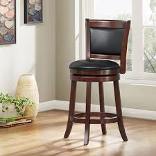 24 Bar Stool With Back Marion 24 Swivel Stool Cushion Back Assorted Colors Sam S Club