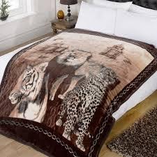 Leopard Print Faux Fur Throw Dreamscene Animal Print Faux Fur Large Mink Throw Warm Fleece Bed