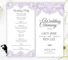 purple wedding programs wedding programs lemonwedding
