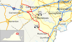 Map Of Northern Virginia Virginia State Route 234 Wikipedia
