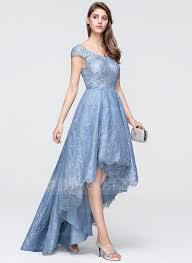 asymmetrical dress a line princess v neck asymmetrical tulle lace prom dress