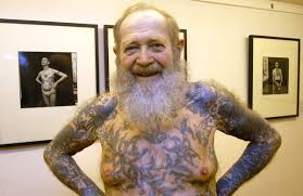 Old Man Tattoo Meme - images of seniors with tattoos will stay with you forever huffpost