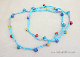 crochet necklace bead images A super simple crocheted necklace that even kids can make