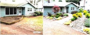 No Grass Backyard Ideas Green Nuance House With Wide Glasses Brown Stairs And Easy Cheap