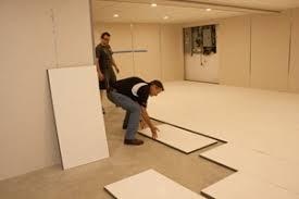 insulated subfloor installation minneapolis basement floor decking
