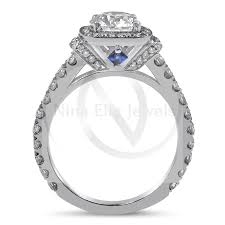 sapphire accent engagement rings 1 00ct engagement ring w sapphire accents r189