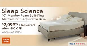 Sleep Science Adjustable Bed Costo Save On Sleep Science Travel Computers Apparel And More