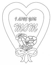 love mom hearts roses coloring love mom