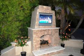 patio build your own outdoor fireplace designs with tv decorative inside plan 3
