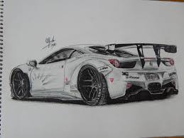 car ferrari drawing ferrari 458 liberty walk by alfredovega on deviantart