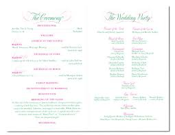 order wedding programs online wedding party list ceremony