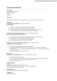 construction superintendent resume sample construction