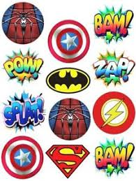marvel cake toppers marvel dc logo s callouts edible party cup cake