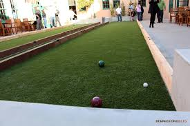 patio u0026 outdoor synthetic grass bocce ball court for amazing