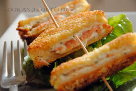 cuisiner le saumon frais minis croques panés au saumon et fromage frais cook and goûte