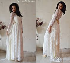 ivory lace wedding dress wedding dress bohemian gown bridal boho bridal gown