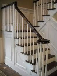 Painting Banisters Ideas Staircase Rails With Black Painted Handrail Ideas Home Interior