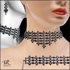 free necklace patterns images Free pattern for necklace black swan beads magic jpg