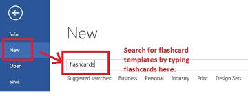 how to make flashcards on microsoft word