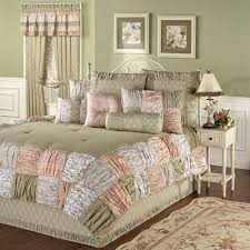 ashland ruched patchwork comforter bedding