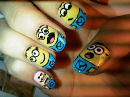 funny comic nail art designs 2015 collection for girls