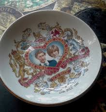 wedding plate vintage royalty wedding princess diana prince charles plate