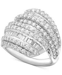 silver diamond rings sterling silver diamond rings macy s