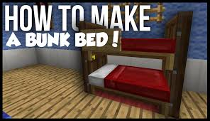 How To Make A Bunk Bed In Minecraft YouTube - Minecraft bunk bed