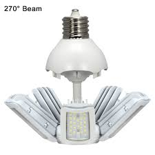mogul base led light bulbs satco s9752 60w 5000k ex39 mogul extended base hi pro multi beam led