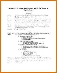 speech outline example informative speech essay 342 best age of