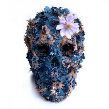 floral skullpture no 2 artwork jacky tsai