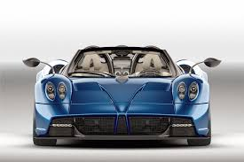 blue pagani pagani huayra roadster blows into geneva 2017 by car magazine